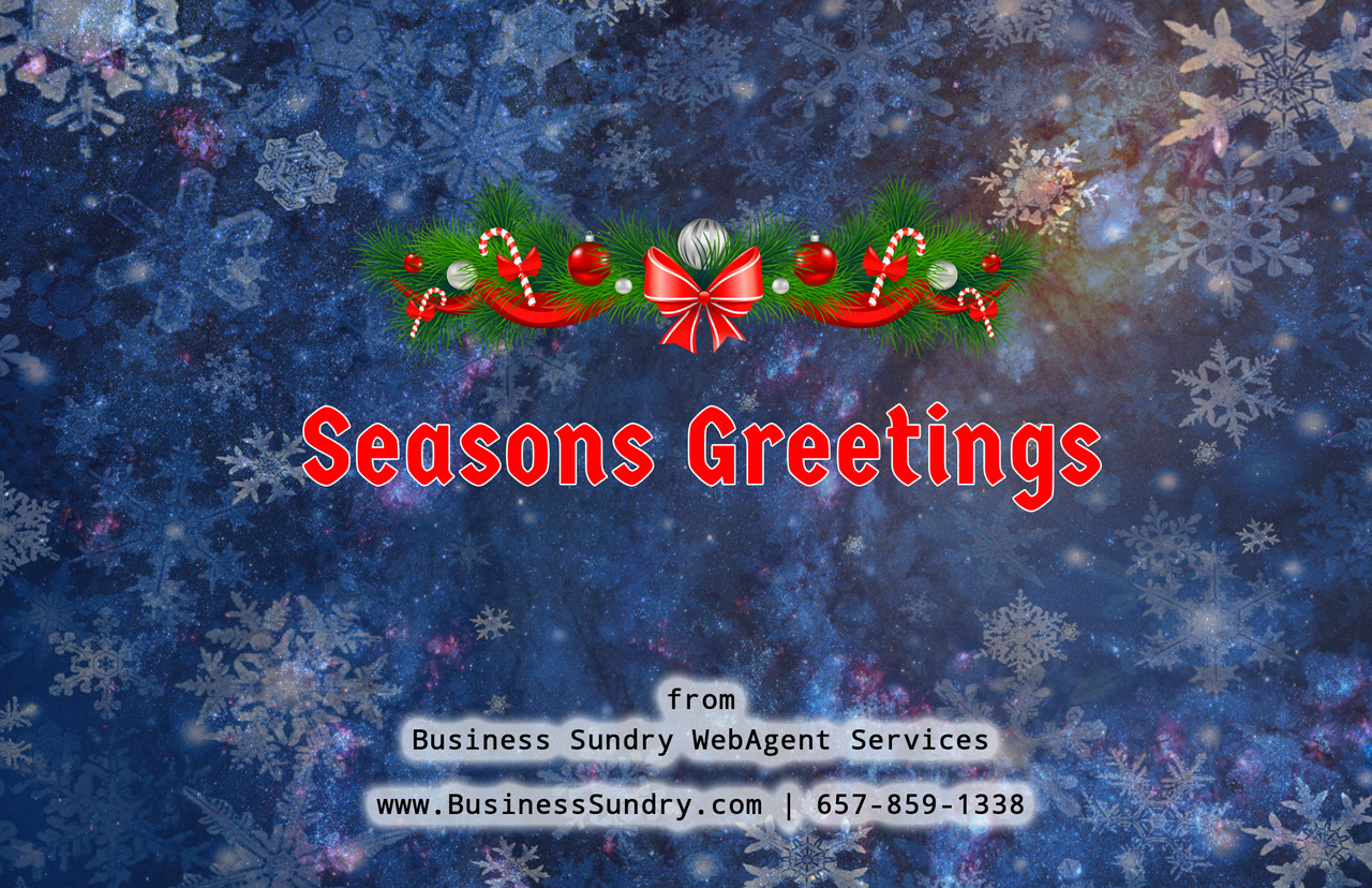 Seasons Greetings From Business Sundry Business Sundry Webagent